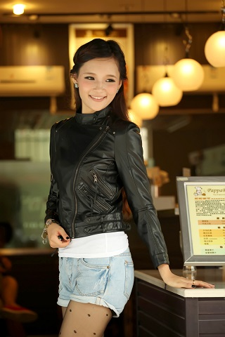 All About Womens Leather Biker Jacket