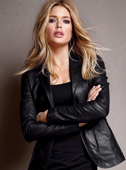 Images of Womens Leather Blazer - Reikian
