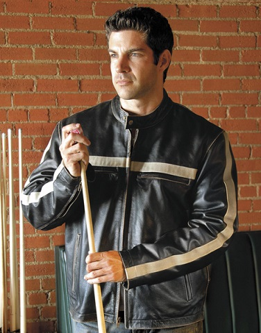 Black Vintage Leather Jacket For Men