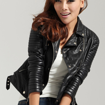 The Sexy Leather Moto Jacket | Studded Leather Jacket