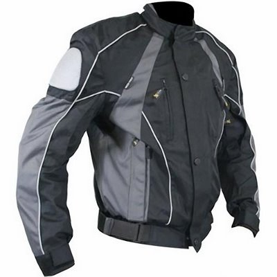 Black and Gray Armored Motorcycle Apparel