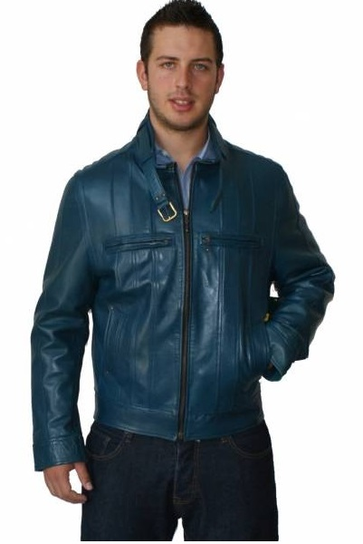 Blue Leather Coats For Men