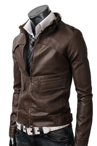 Brown Vintage Motorcycle Jacket