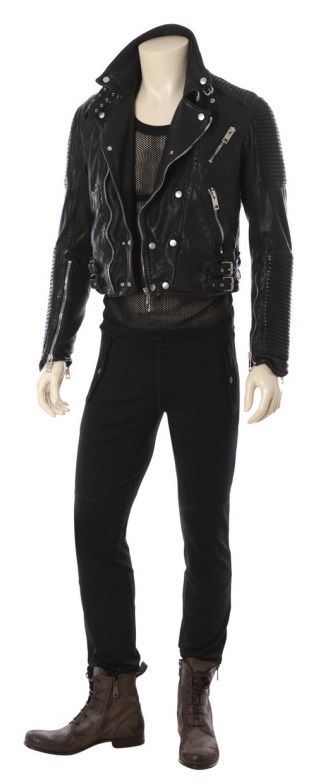 Burberry Studded Leather Jacket With Mens Skinny Leather Pants