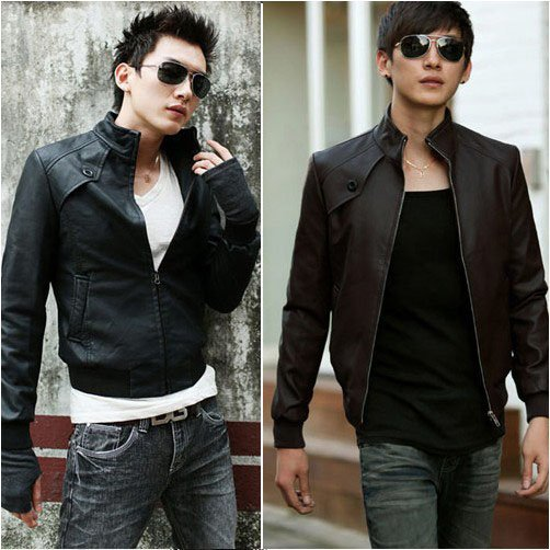 Cheap Slim Korean Style Motorcycle Jackets For Men