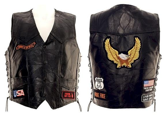 Cool Leather Biker Vest