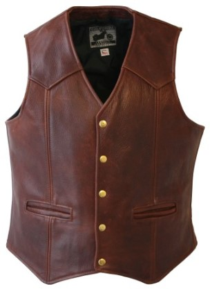 Geniuine Brown Leather Vest For Men