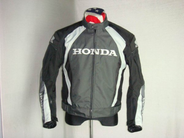 Gray and Black Honda Motorcycle Apparel