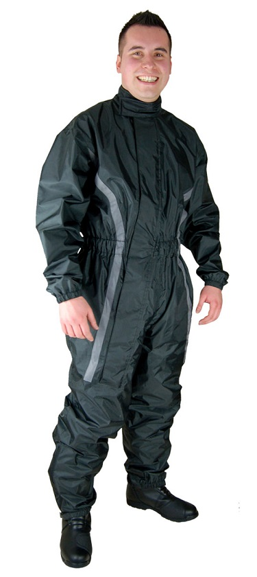 Gray and Black Motorcycle Rain Gear