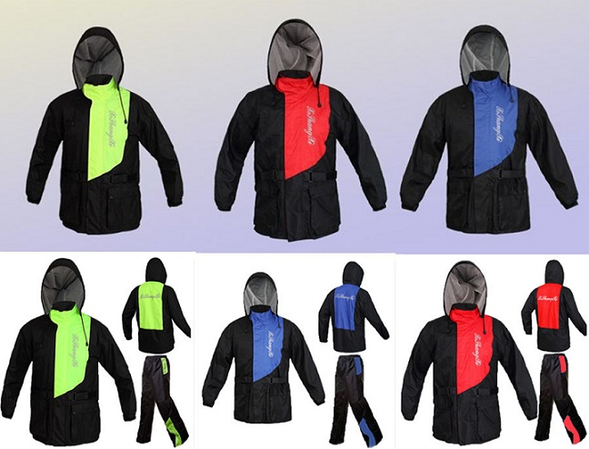 Green Red Blue Rain Gear For Motorcycle Riders