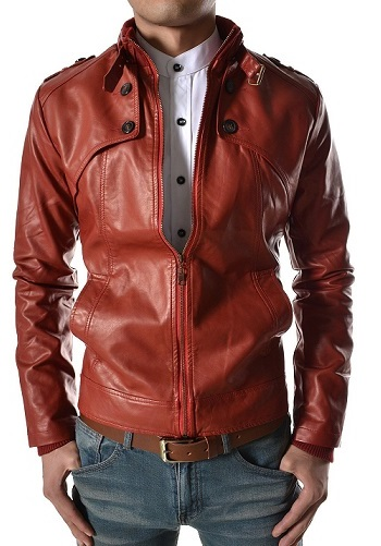 Hot Italian Red Leather Coats For Men