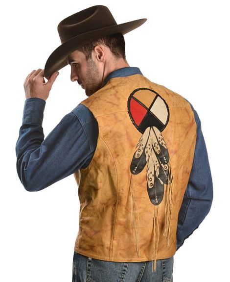 Hot Western Leather Vests For Men