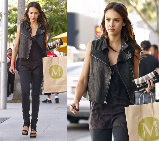 Jessica Alba Leather Motorcycle Vests