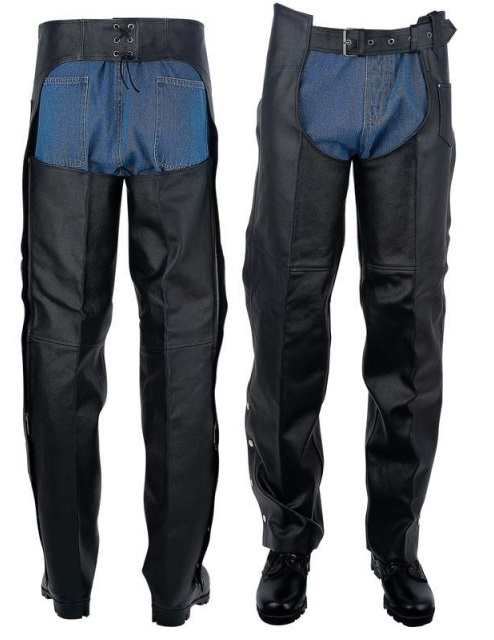 Leather Motorcycle Chaps For Men