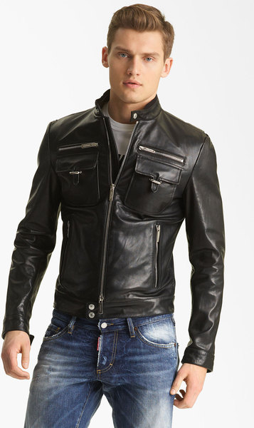 Mens Chic Black Moto Jacket