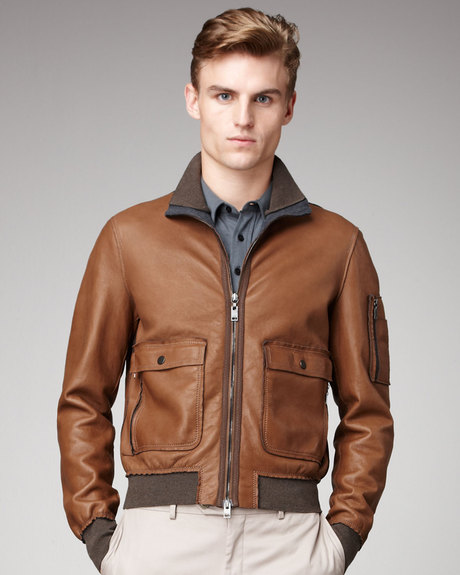 Most Trendy Brown Leather Jacket for Men