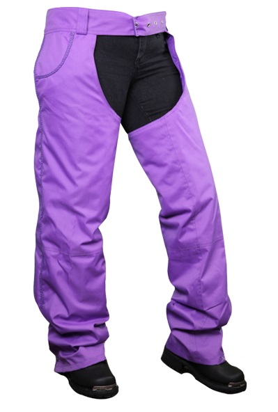 Purple Denim Motorcycle Chaps