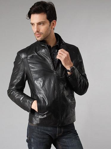 Quality Black Mens Leather Coats