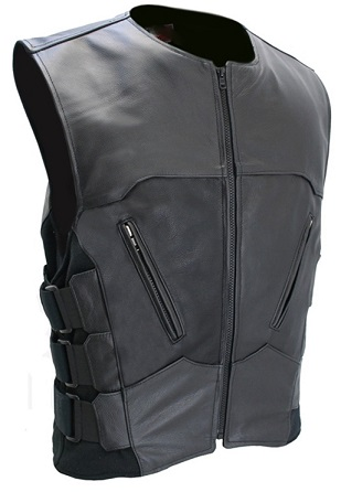 Quality Leather Motorcycle Vests For Men