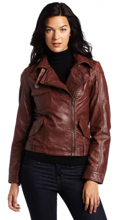 Quality Womens Brown Leather Jacket