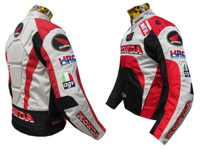 Red ad White Honda Motorcycle Jackets For Men