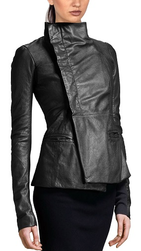 Sophiscated Leather Coats For Women Black