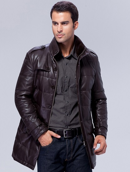Trendy Long Leather Coats For Men
