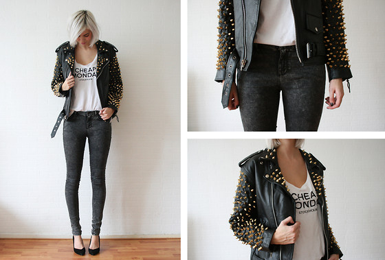 Trendy Studded Leather Jacket For Women