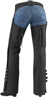 Womens Hella Leather Chaps