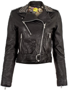 popular selection of studded faux leather jacket