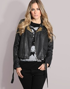 stylish leather studded jacket collection